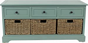 Décor Therapy Montgomery Bench, Antique Iced Blue