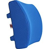 LoveHome Memory Foam Lumbar Support Back Cushion with 3D Mesh Cover Balanced Firmness Designed for Lower Back Pain Relief- Ideal Back Pillow for Computer/Office Chair, Car Seat, Recliner etc.