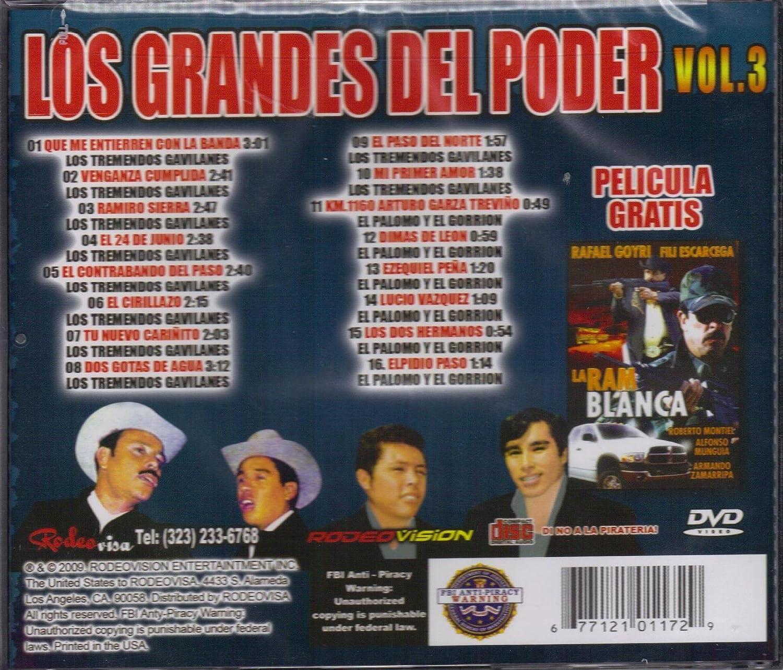 RODEOVISION ENTERTAINTMENT CD 2009 - Los Tremendos Gavilanes Vs El Palomo Y El Gorrion Incluye La Pelicula Los Grandes Del Poder Vol.3 - Amazon.com Music