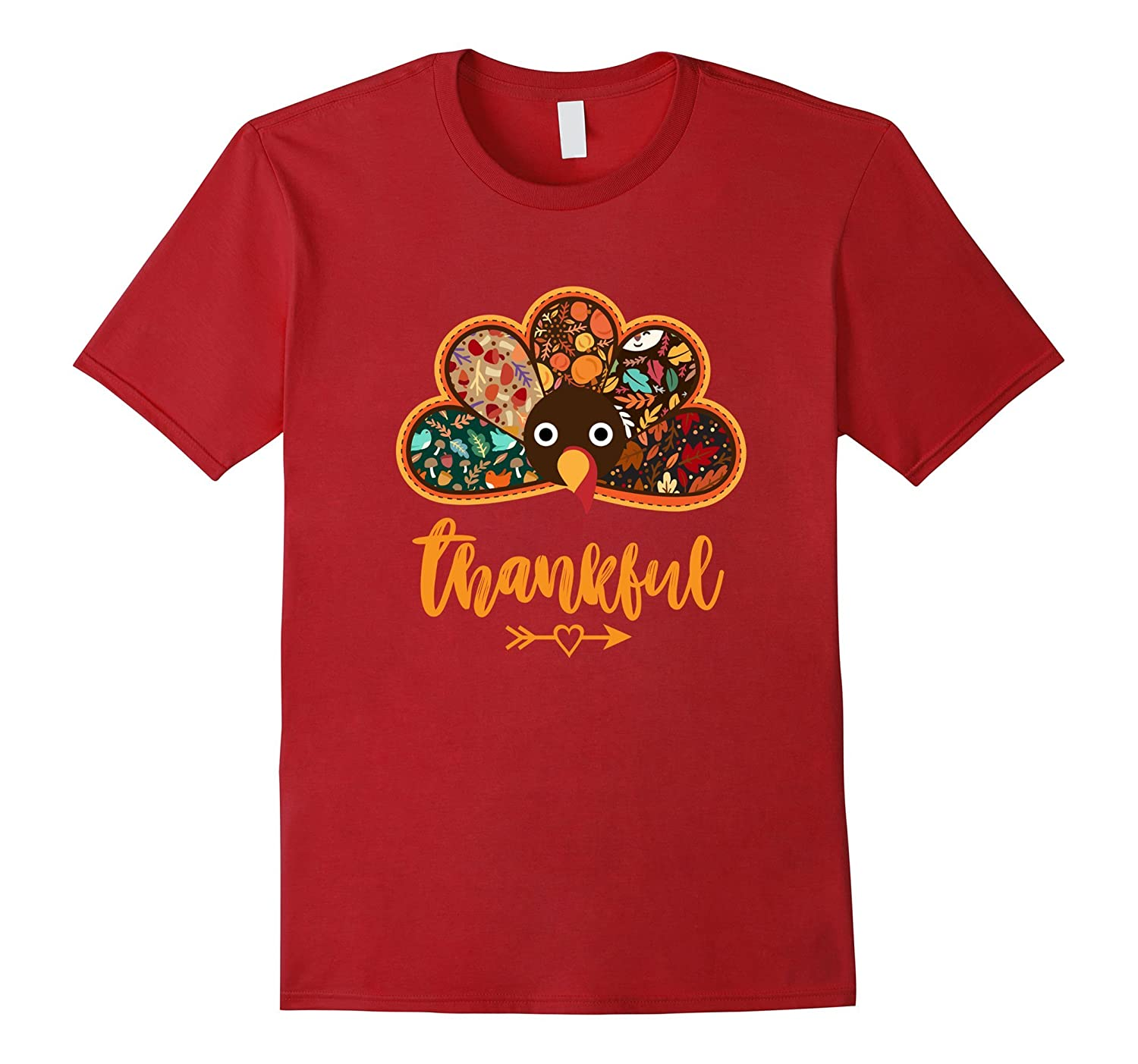 Thanksgiving Day Turkey Thankful T-shirt Fall Pattern Design-ANZ