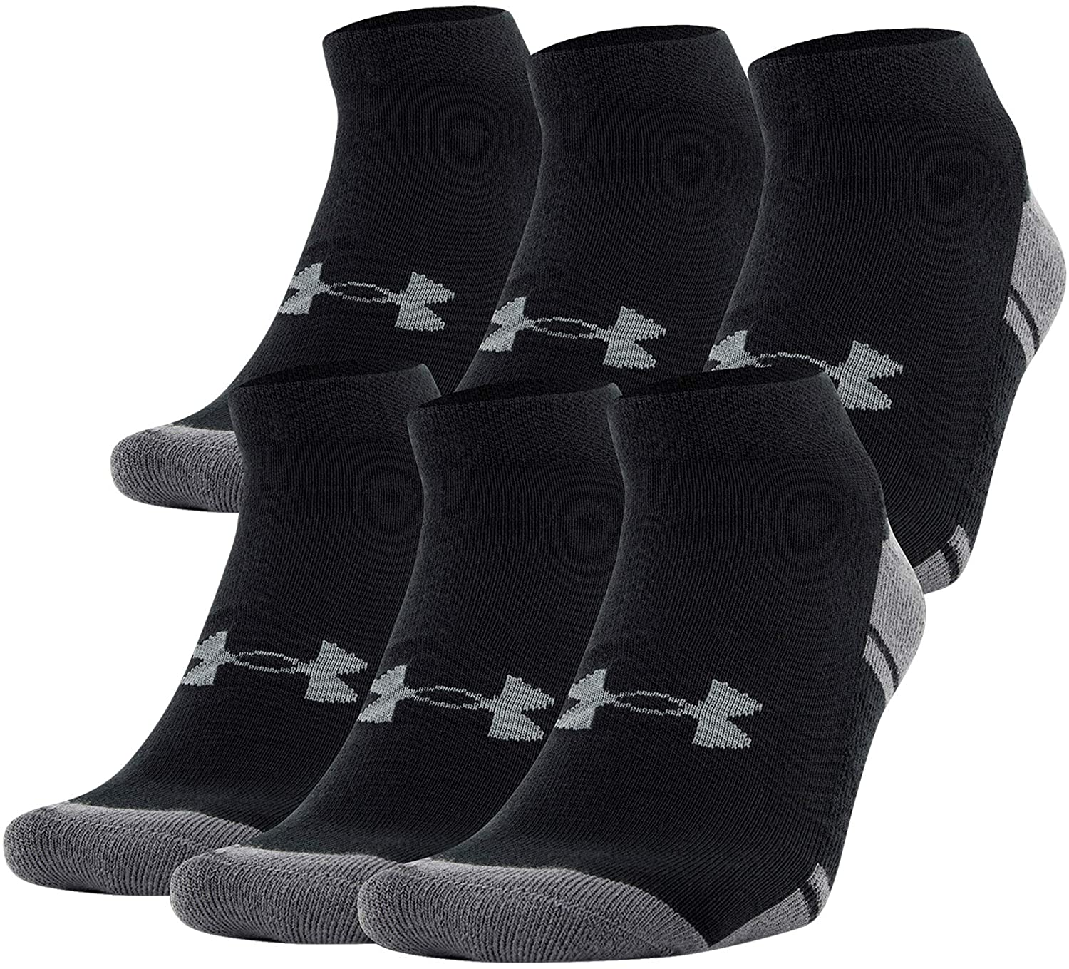 Under Armour Adult Resistor 3.0 Low Cut Socks, 6-Pairs : Clothing