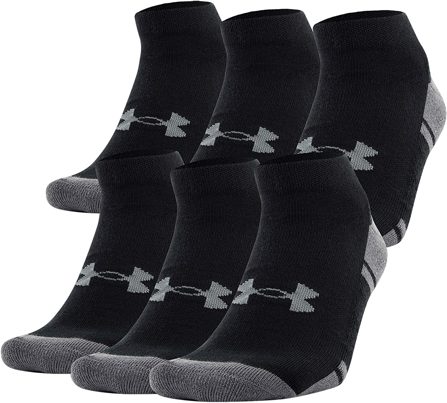 Under Armour unisex-adult Resistor 3.0 Low Cut Socks, 6-pairs