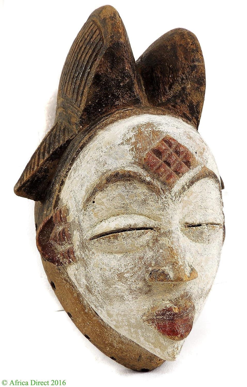Punu Maiden espíritu máscara mukudji blanco Gabón arte africano ...