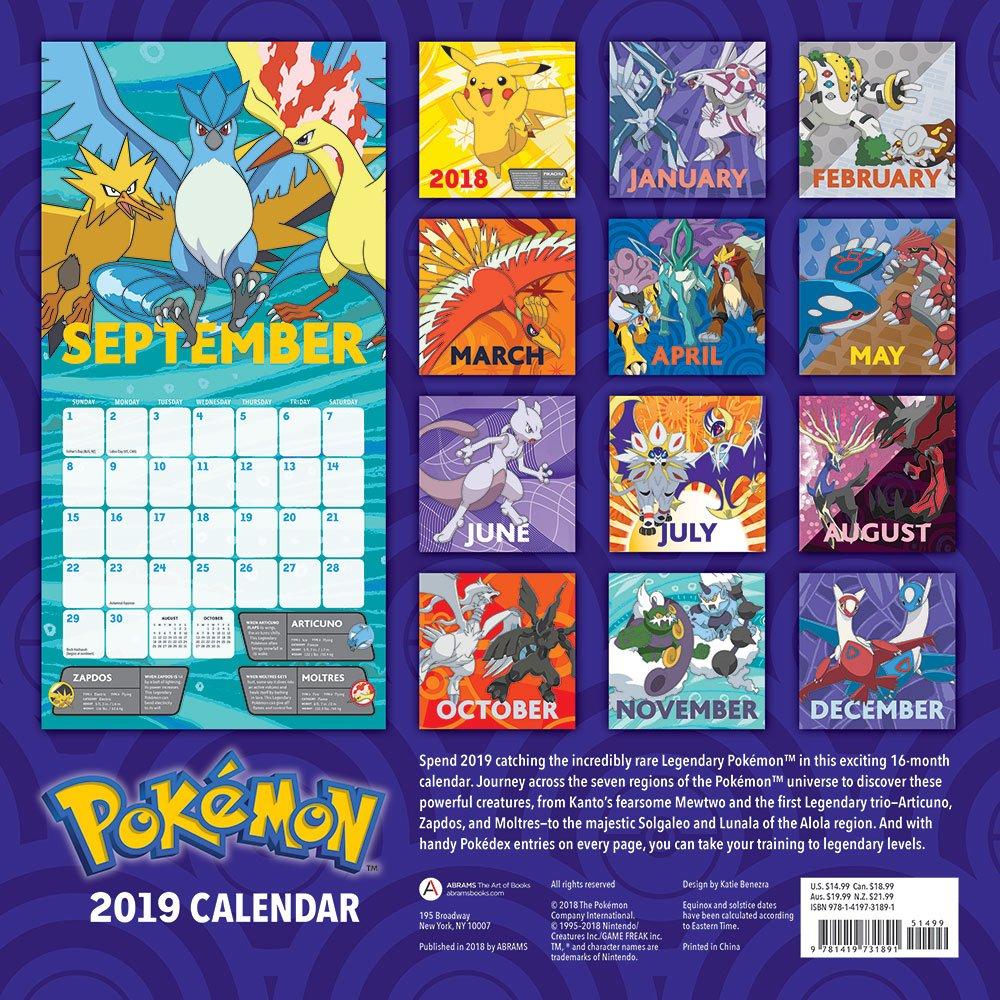 Pokemon Calendar 2019 Pokémon 2019 Wall Calendar: Pokémon: 9781419731891: Amazon.com: Books