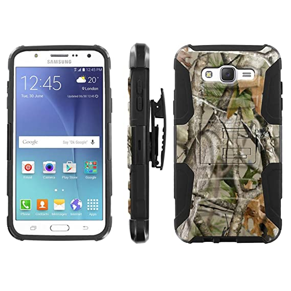 sports shoes acc27 d3046 [Galaxy J7] Defender Cover [ArmorXtreme] [Black/Black] Heavy Duty Warrior  [Holster] [Kick Stand] - [Tree Camo] for Samsung [Galaxy J7]