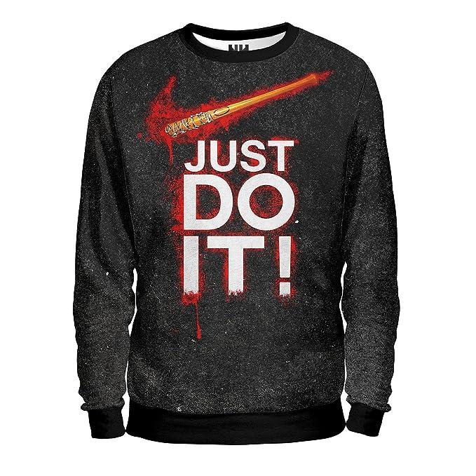 93dc1a5c2f436 Noorhero - Felpa Uomo - Just Do It  Amazon.it  Abbigliamento