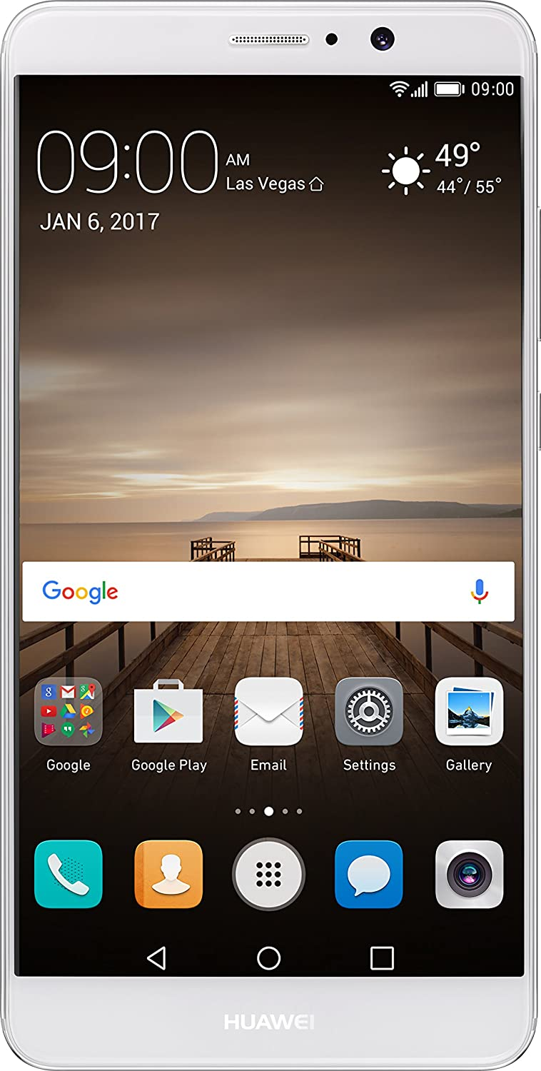 Huawei Mate 9 with Amazon Alexa and Leica Dual Camera - 64GB Unlocked Phone - Moonlight Silver (US Warranty)