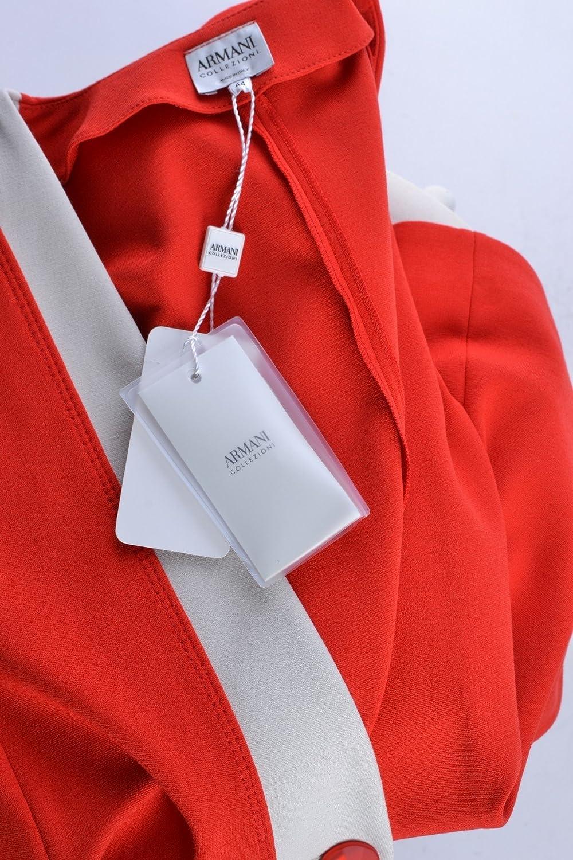 Armani Collezioni Femme Mcbi024006o Blanc Rouge Viscose Veste  Amazon.fr   Vêtements et accessoires 7e159370f14