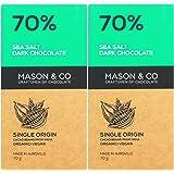 Mason & Co. 70% Sea Salt Dark Organic Exotic Artisanal Chocolate Bar - 70g (Pack Of 2)