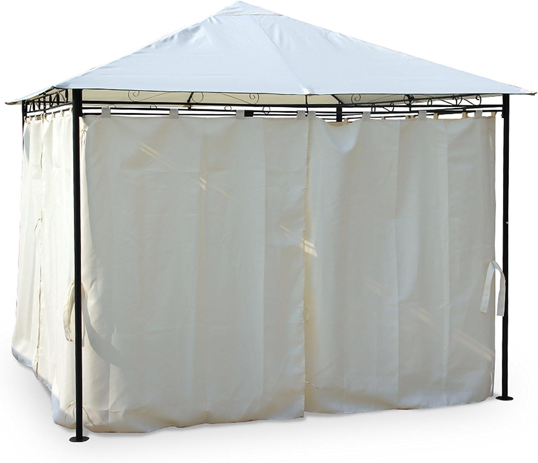 Alices Garden - Pergola con cortinas 3x3m - Crudo