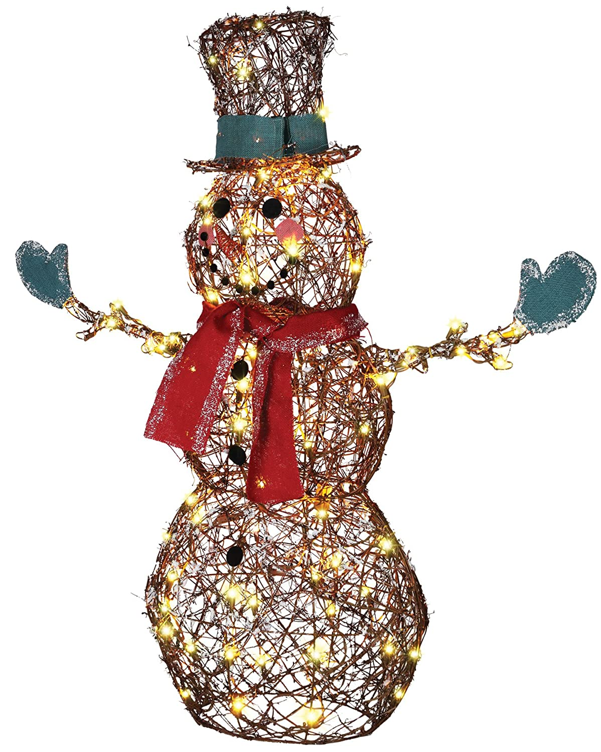 amazon com gemmy starry night grapevine snowman prop christmas