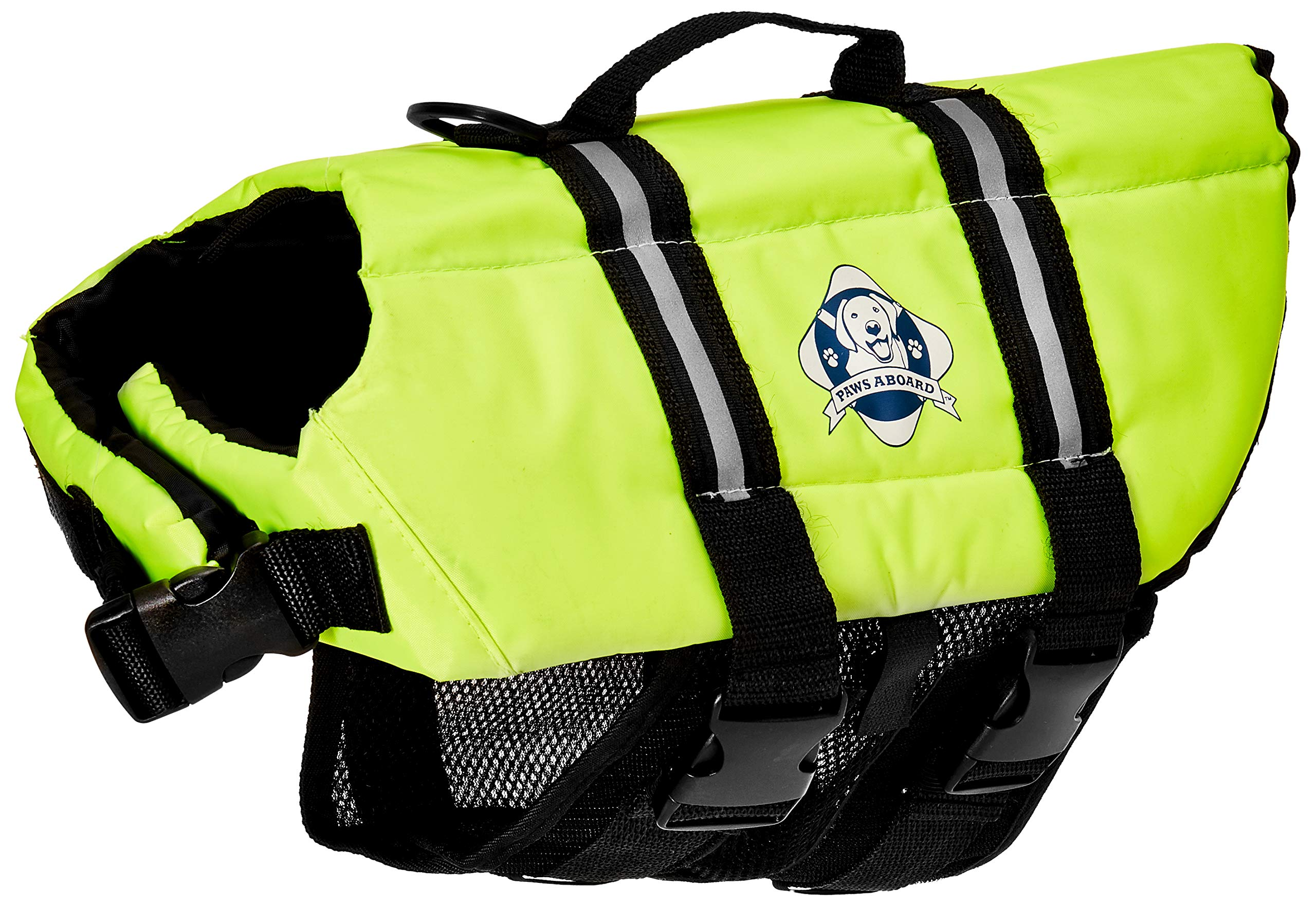 Paws Aboard Dog Life Jacket,  Fashionable Dog Life Vest for Swimming and Boating - Neon Yellow by Paws Aboard