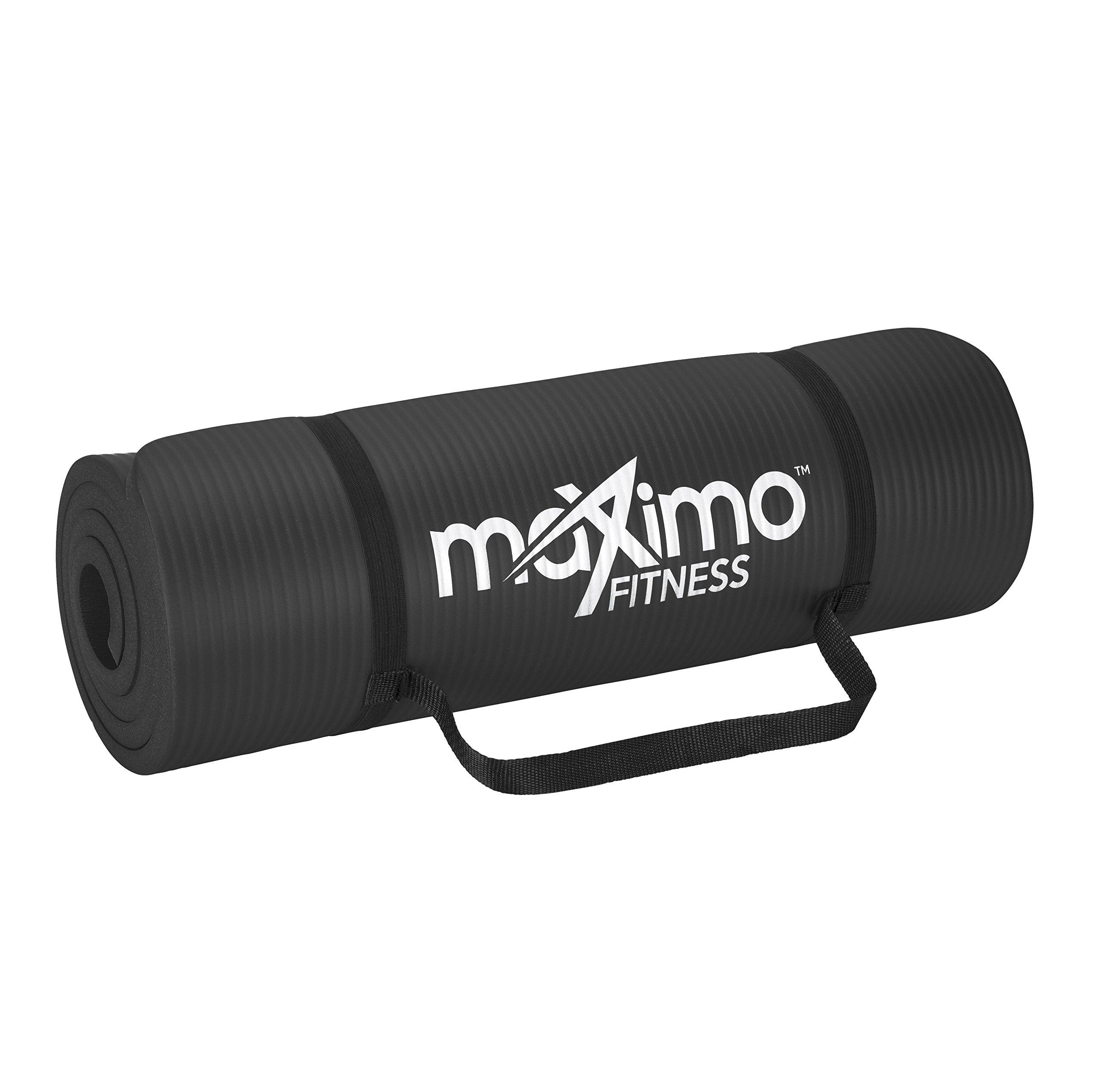 Maximo Fitness Colchoneta para Ejercicios Extra Gruesa - Colchoneta Antideslizante para Gimnasio 183 cm Largo x