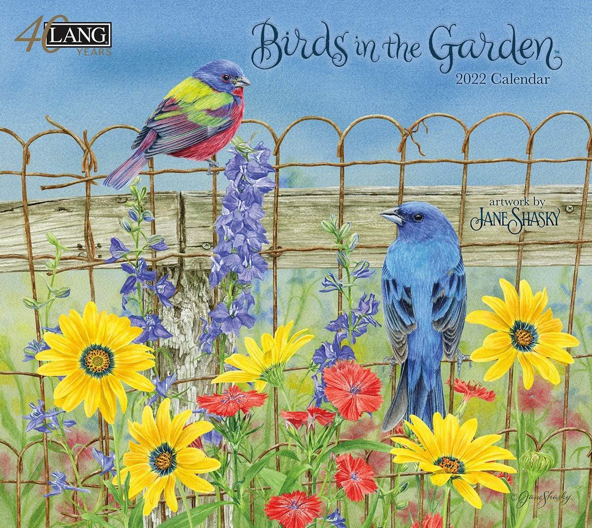 Lang Birds in The Garden 2022 Wall Calendar (22991001895)