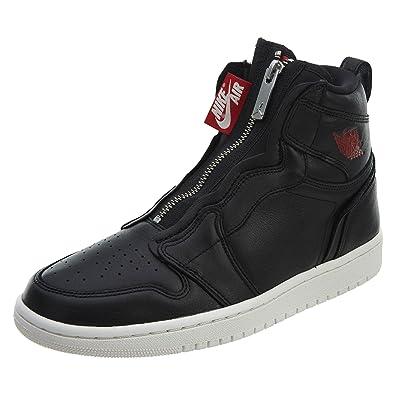 low cost a5c21 1aedf Nike WMNS Air Jordan 1 Hi Zip Prem Chaussures de Fitness Femme, Multicolore  (Black