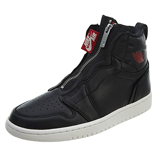 b8932169f Nike Damen WMNS Air Jordan 1 Hi Zip Prem Fitnessschuhe Mehrfarbig  (Black Gym Red