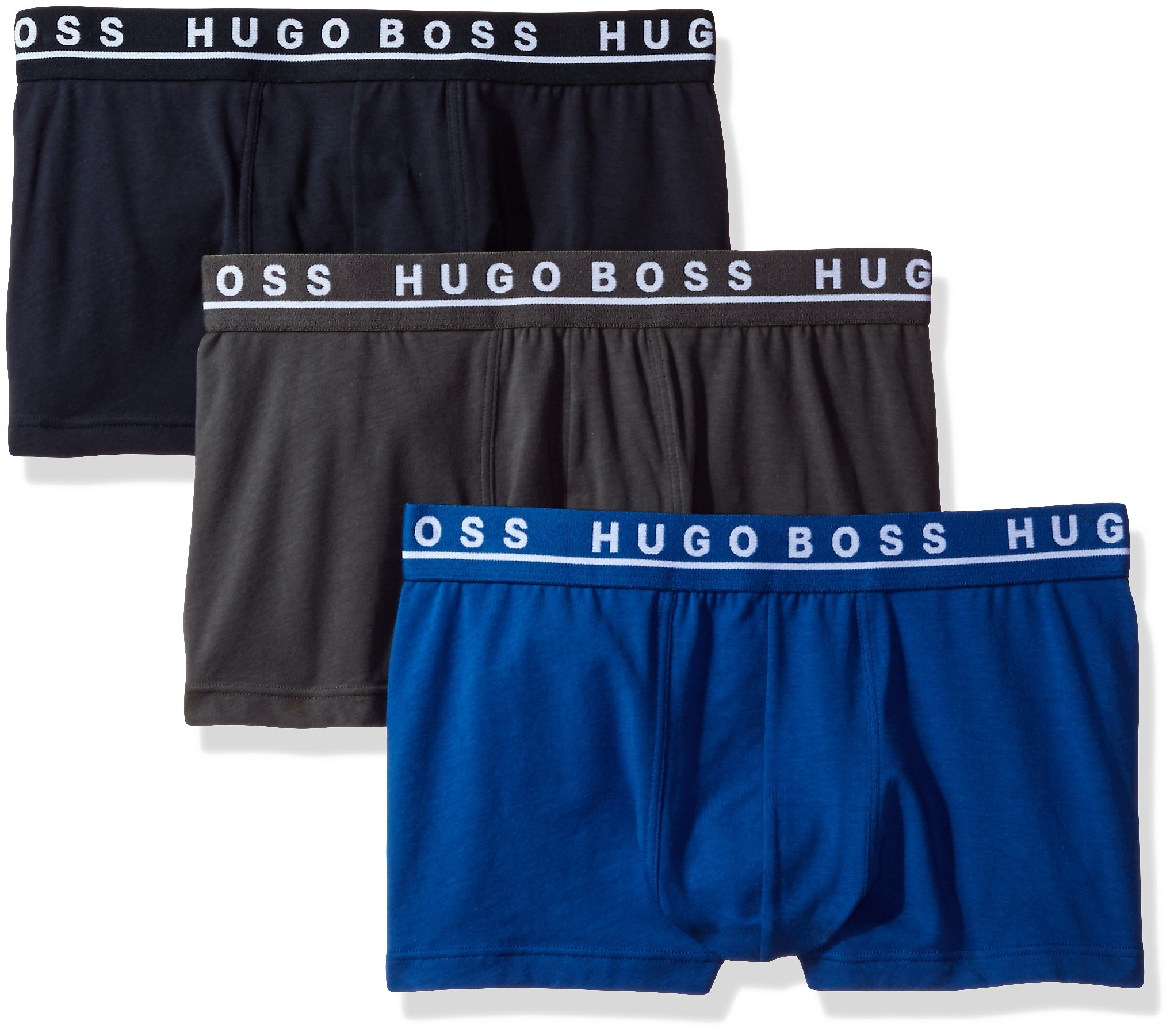 Hugo Boss BOSS Men's Trunk 3p Co/El 10146061 01, True Blue/Sky Captain/Forged Iron, Small