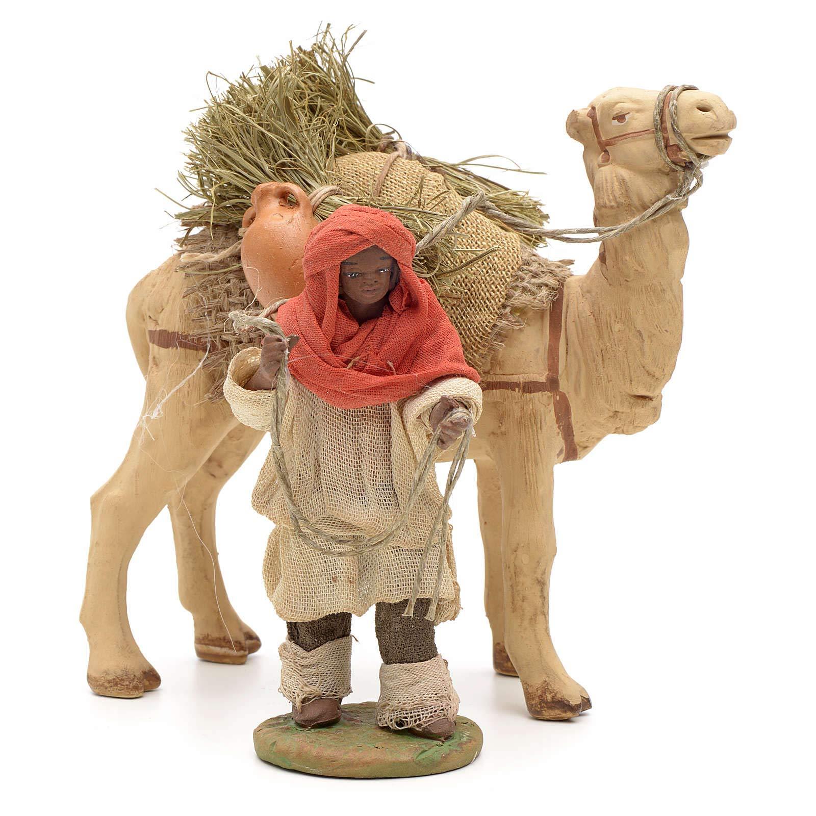 Holyart Nativity Set Accessory Dark cameleer with Camel 10 cm Figurines