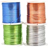 Mandala Crafts Super Long Colored Aluminum 12 16 18 20 22 Gauge Jewelry Making Beading Craft Wire Wholesale Assorted Combo (22 Gauge, Combo 39)