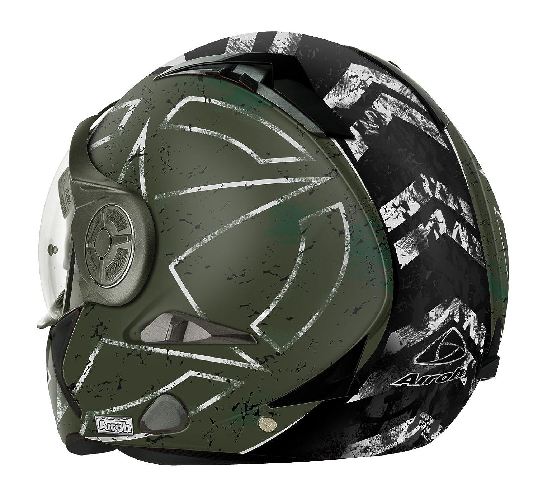 Airoh Casque de Moto Modulaire Vert 60-L Command Green