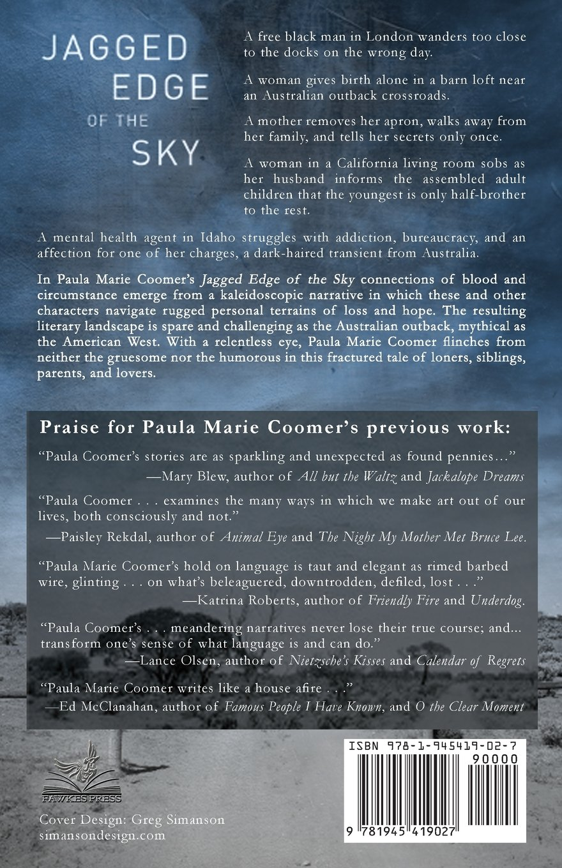 Amazon: Jagged Edge Of The Sky (9781945419027): Paula Marie Coomer:  Books