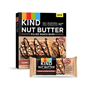 KIND Nut Butter Filled Bars, Honey Almond Butter, 1.3 Ounce, 32 Count