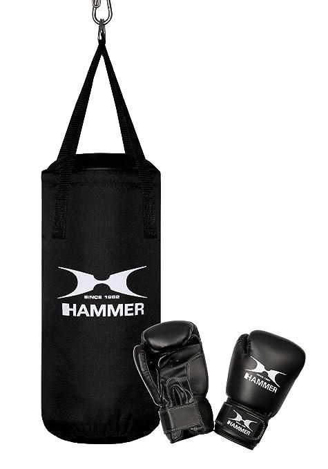 Hammer 92090 Niños Nylon Negro bolsa de boxeo y almohadilla ...