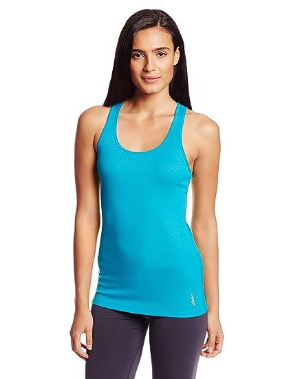 b816309f83ee3 Amazon.com  ASICS Women s Fit-Sana Rib Tank Top  Sports   Outdoors