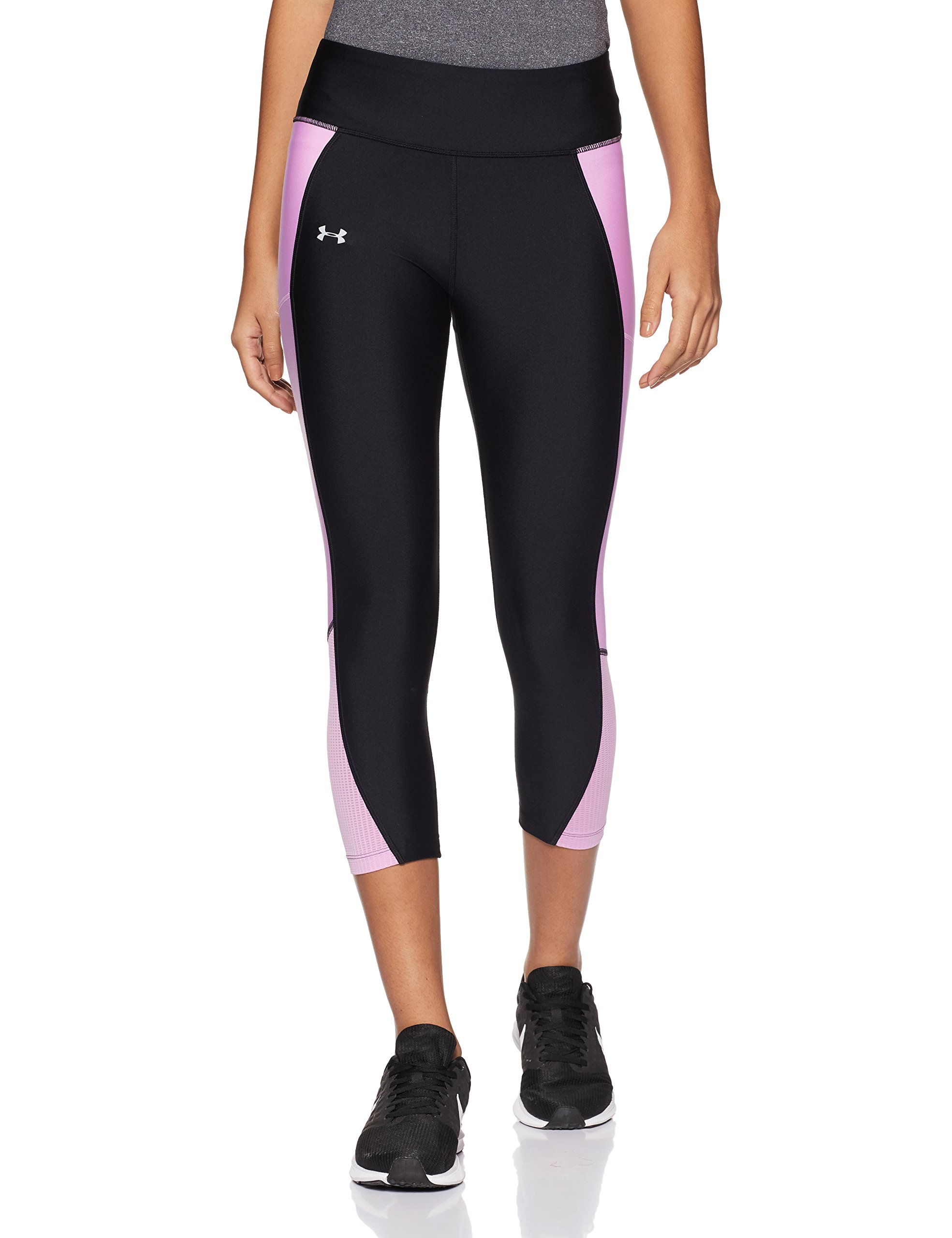 Under Armour Women's Fly-By Capri,Black (015)/Reflective, X-Small