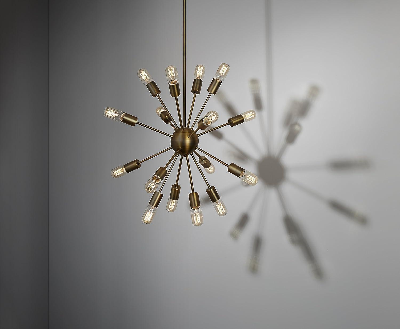 16 light brass sputnik pendant medium hanging chandelier fixture 16 light brass sputnik pendant medium hanging chandelier fixture etl listed amazon arubaitofo Choice Image