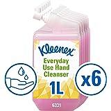 Kleenex 6331 Gel de Manos de Uso Diario, 6 Estuches de Recambio X 1 L, Rosa