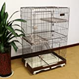 """PANEY 48"""" H Folding Cat Home 3 Level Cat Cage"""