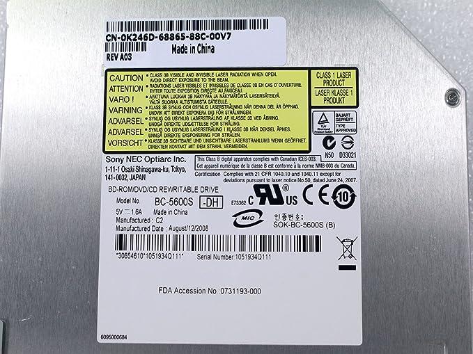 Dell Studio 1457 Notebook OPTIARC BC-5600S Driver Windows 7