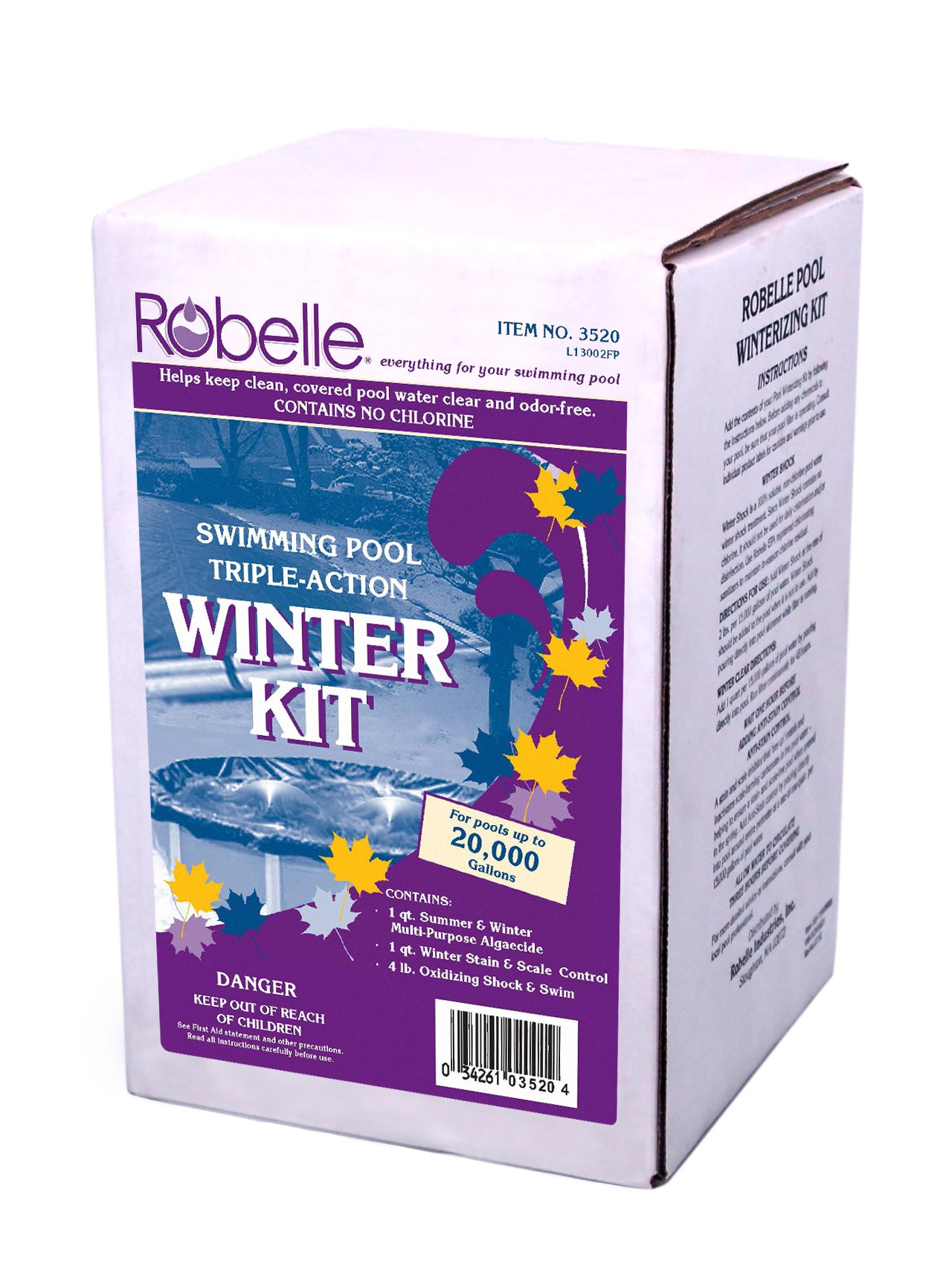 Robelle 3520 Swimming Pool Triple-Action Winter Kit, 20000-Gallon by Robelle