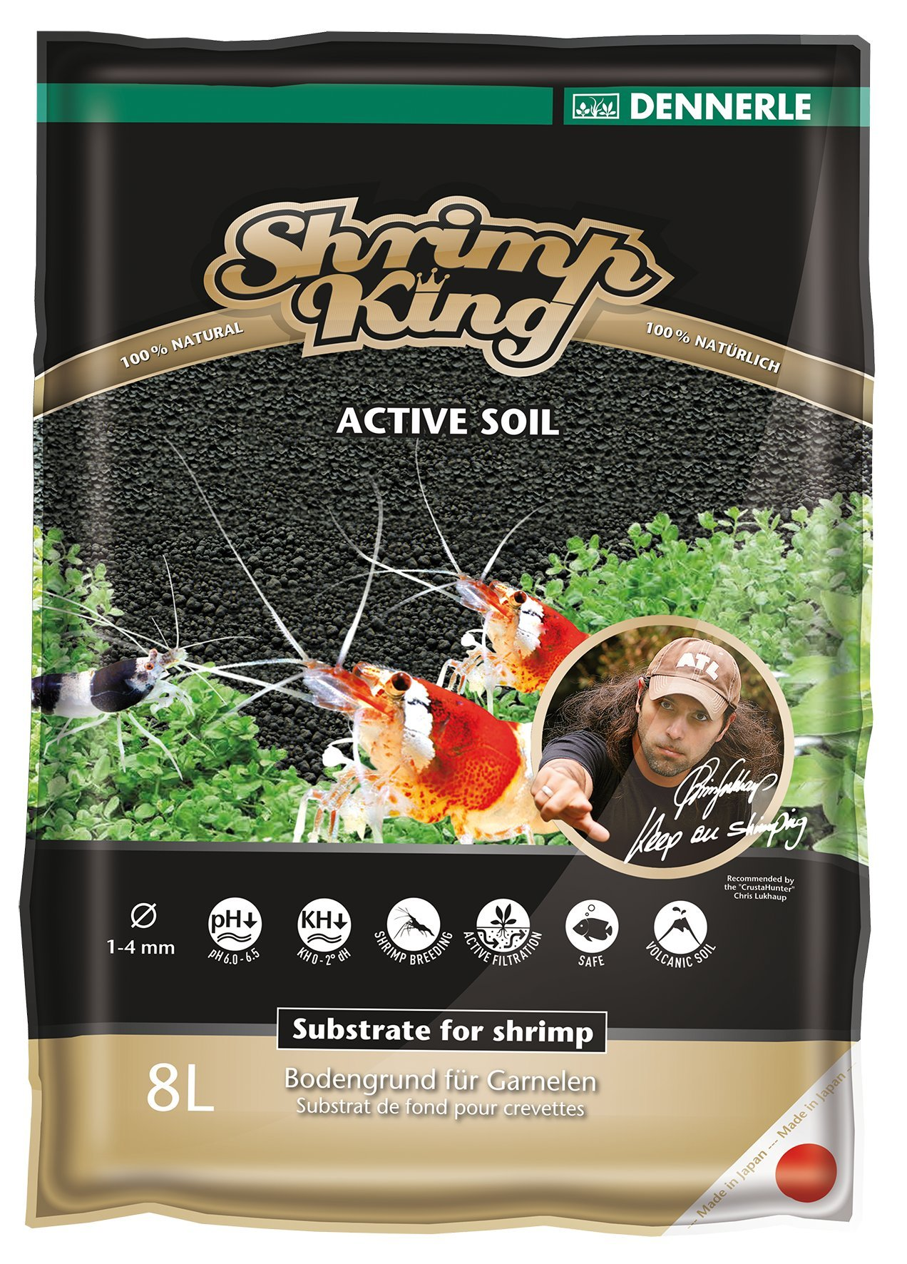 Dennerle Shrimp King Active Soil - 8L Bag by Dennerle