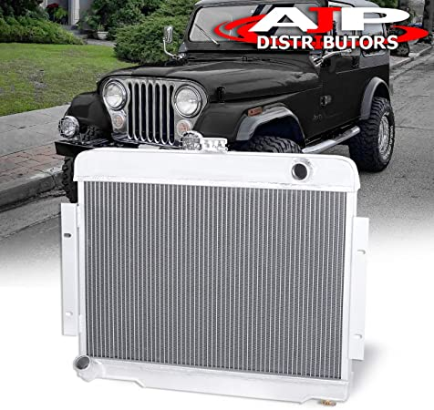 3Row Core Aluminum Radiator For Jeep CJ Series CJ5//CJ6//CJ7 3.8L//4.2L//5.0L 72-86