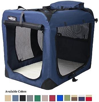 Amazon.com : EliteField 3-Door Folding Soft Dog Crate, Indoor ...