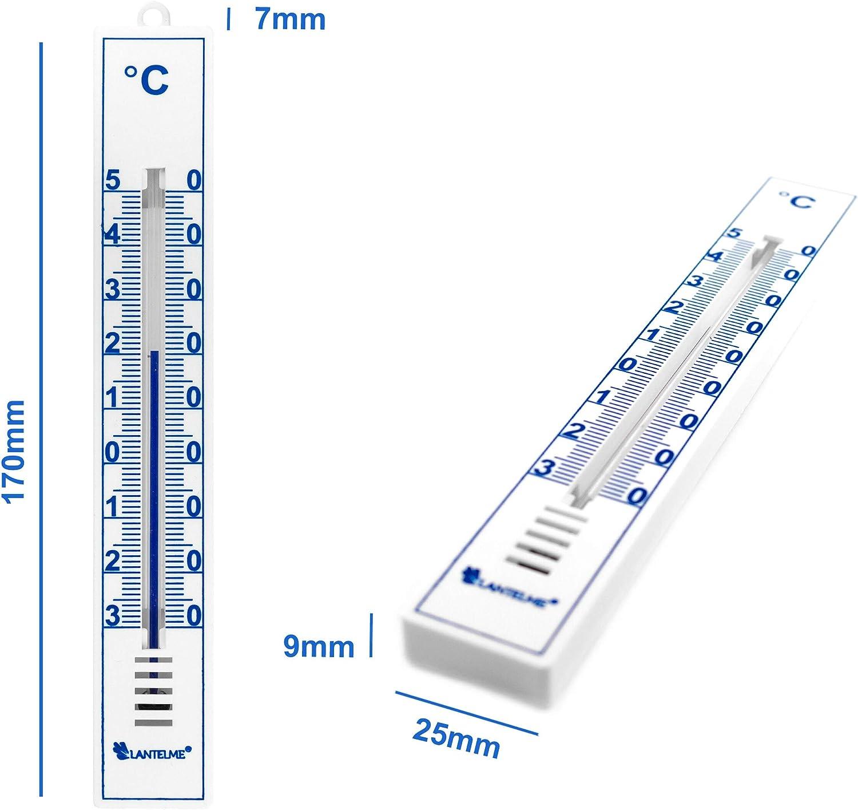 Lantelme Gartenthermometer 2 St/ück Set Deutsche Herstellung analog f/ür Innen Au/ßen und Garten Thermometer wei/ß 4055
