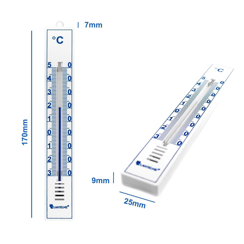 Lantelme 4086 Set di 5 termometri analogici per interno ed esterno; in plastica