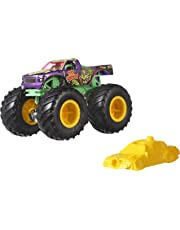 Mattel- Hot Wheels-Monster Truck Coches de Juguetes 1:64, Modelos Surtidos FYJ44