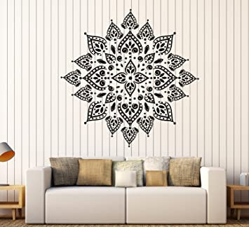 Amazon.com: Vinilo calcomanía decorativo para pared mandala ...