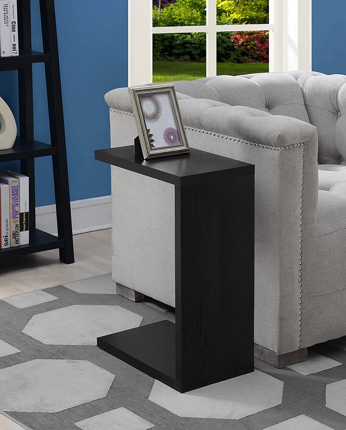 Convenience Concepts Northfield Admiral C End Table, Black