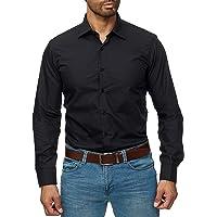 Gdtime Hombre Camisa Manga Larga Slim Fit,Resistente a Las Arrugas,S-3XL