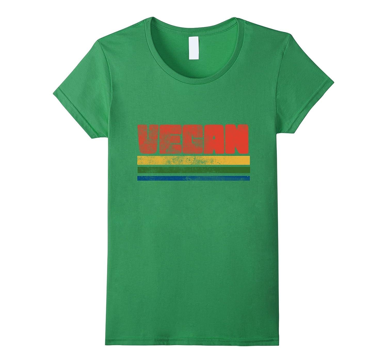 Vegan t-shrit vintage style vegans tee shirts retro 70s-Awarplus