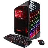 CYBERPOWERPC Gamer Master GMA2200A Desktop Gaming PC (AMD Ryzen 7 1700 3.0GHz, AMD RX 580 4GB, 16GB DDR4 RAM, 2TB 7200RPM HDD, 24X DVD-RW & Win 10 Home), Black