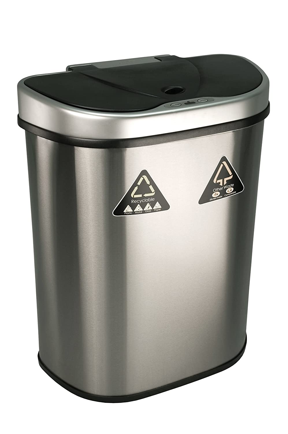 Kitchen Motion Sensor Trash Can Touchless Stainless Steel