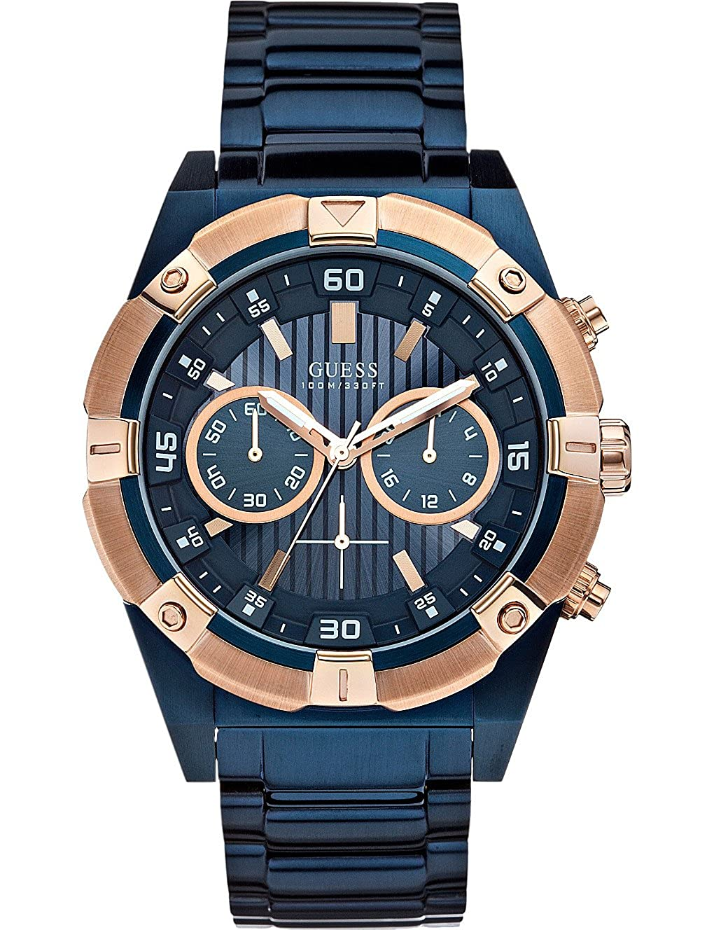5dcbb1d29 Buy GUESS Blue Dial Analogue Watch for Men (W0377G4) Online at Low Prices  in India - Amazon.in