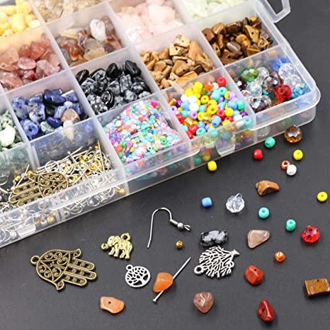 Civilipi Chips Edelsteinperlen unregelm/ä/ßig zur Schmuckherstellung Edelsteinperlen Kristallst/ücke lose Perlen mit Biegeringe