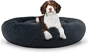 The Dog's Bed Sound Sleep Donut Dog Bed & Cat Bed, Original Calming Anti-Anxiety Premium Quality Plush Nest Snuggler - with Removable Cover