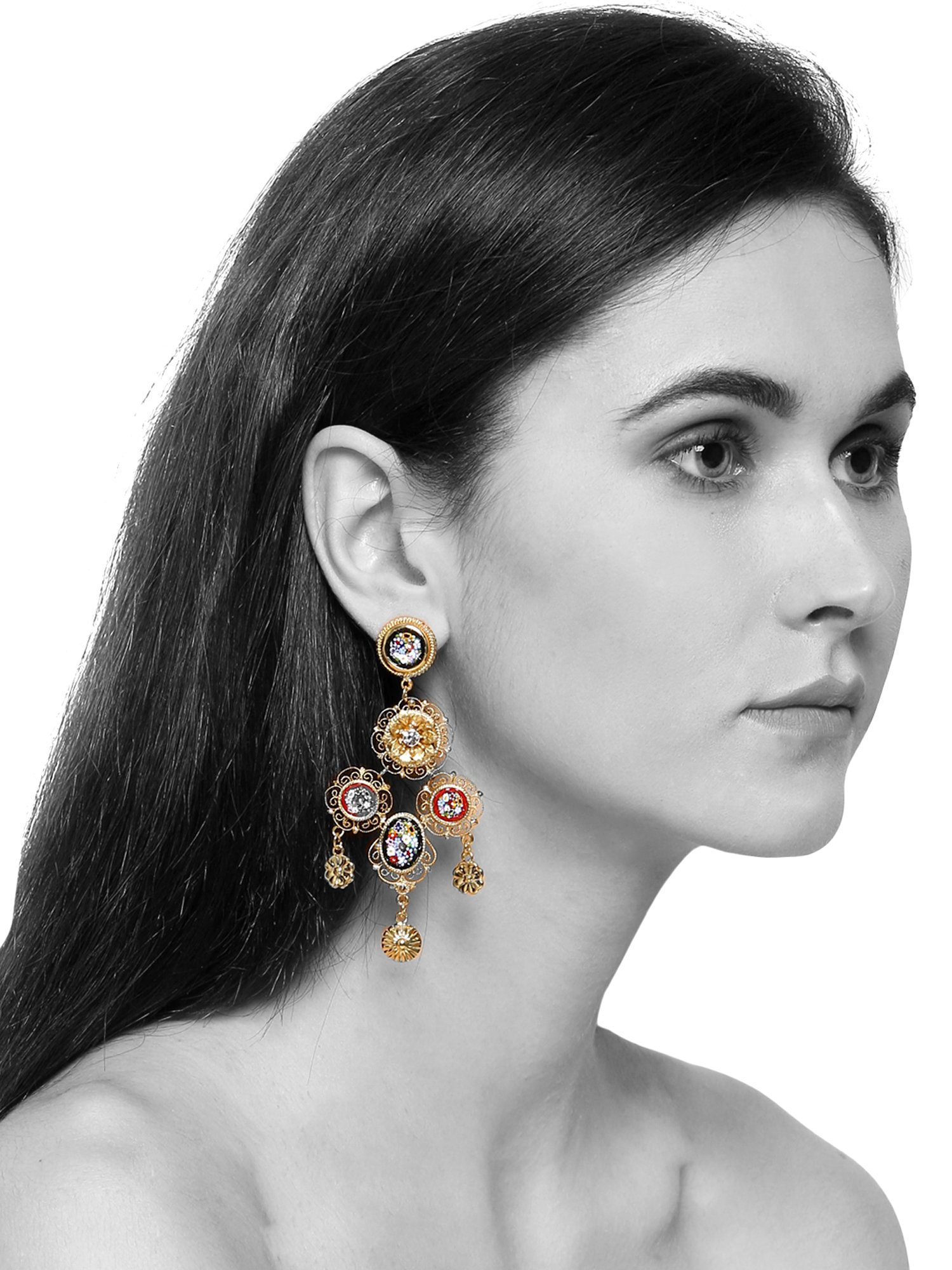 Rawtonica Florentine Gold Earrings